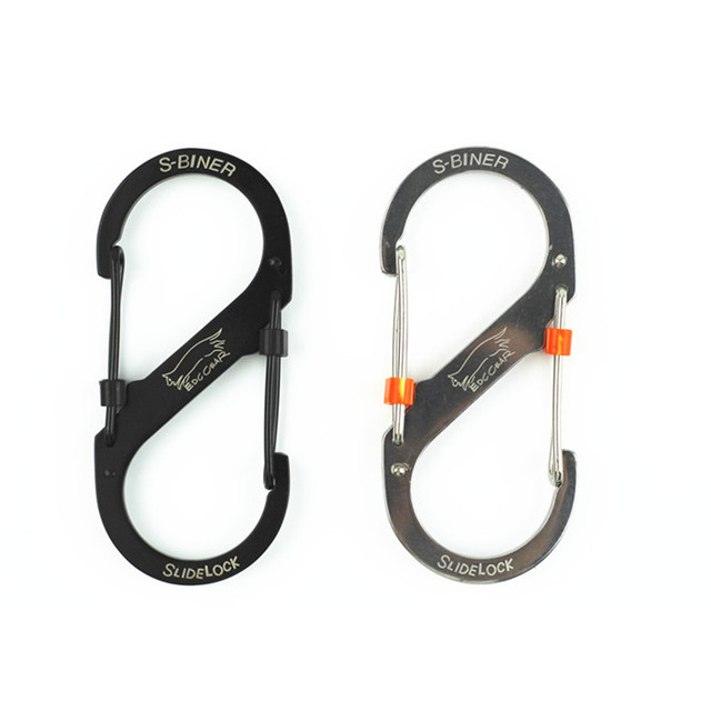 EDC Outdoor Leisure Equipment Stainless Steel 8-shaped Buckle Snap Clip Mount Climbing Carabiner Key Chain Hanging Backpack