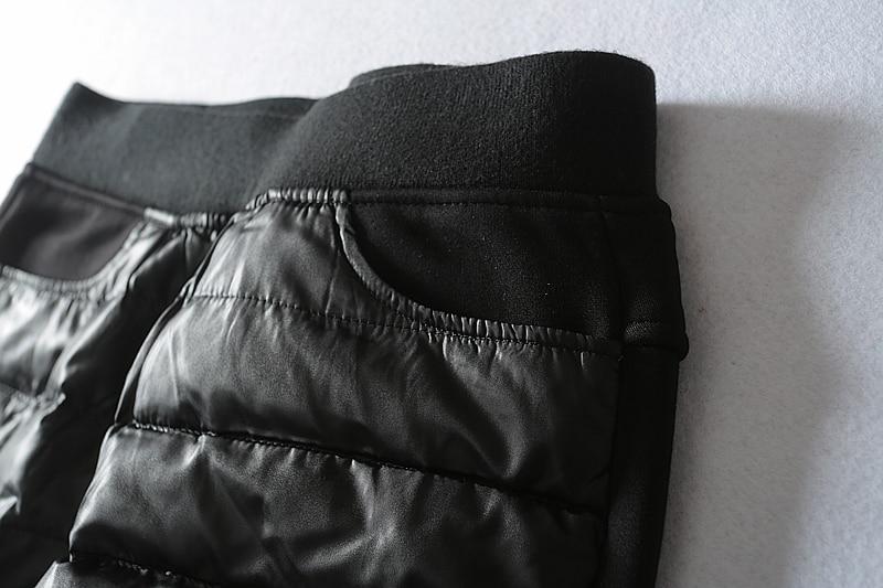 Nuevo Tobillo 27 Invierno Lápiz 33 Samgpilee Plano Capris Sólido longitud Casual Elástico Cintura Pantalones 2018 Mujeres Medio Tejido Black Abajo Y tdqgAt