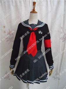 Image 3 - Robe de soirée en boîte pour femmes, costume de Cosplay pour Halloween, Super Danganronpa 2, Peko Pekoyama