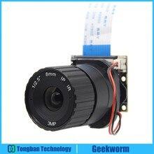 Câmera focal raspberry pi/5mp 8mm, comprimento noturno, placa para câmera raspberry pi 3 modelo b/2b/b +/zero (w)