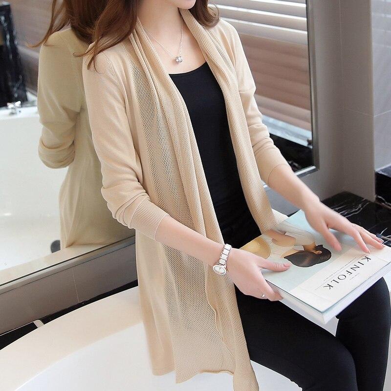 0f21921cc86 Buy korean summer women cardigan knitted long regular and get free shipping  on AliExpress.com