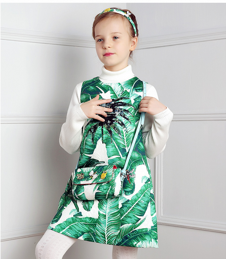 Girls Dresses Summer Baby Girls Clothes Kids Dresses Lemon Print Princess Dress Girl Party Cotton Children Dress 6 new 2018 children cloth 3d print autumn sleepwear rn 9 girls baby cotton girl sleepwear dress kids party princess nightgown