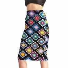 NEW Arrival 0004 Sexy Girl Women Summer Rainbow Plaid tartan National Prints Skater Evening Sexy Knee