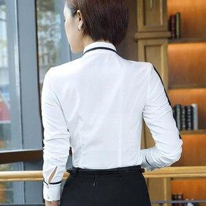 Image 4 - Naviu Neue Mode Frauen Tops und Blusen Blusas Mujer De Moda 2019 Chiffon Hemd Büro Damen Formale Arbeit Tragen