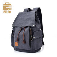 Fashion Mens Canvas Backpack European American Style Multifunction Close School Bags for Teenagers Classic Backpacks