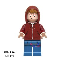 Single Building Blocks Elliott E.T. The Extra-Terrestrial Science Fiction Family Movie Sheriff Deadpool Figures toy for children(China)