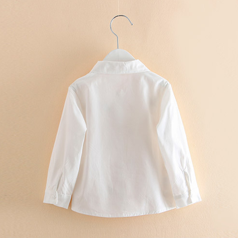e005c8b4 Spring Autumn Long Sleeve Baby Girls Embroidered Shirt Fashion Exquisite  Plant Shirt Kids Turn Down Collar White Shirt For Girl-in Blouses & Shirts  from ...