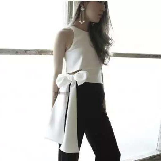 New 2016 Sexy font b Women b font font b Camis b font Tanks bow Oblique