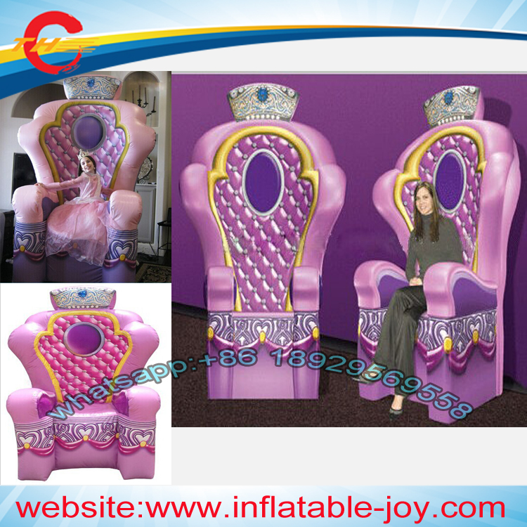 Inflatable Kids Birthday Chair: 3m/10ft High Queen Inflatable Chair For Kids For Party
