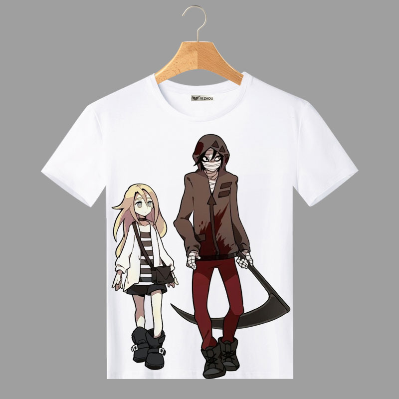 Fashion T Shirt Men for Angels of Death Ray Zack Cosplay O-Neck Printed Women Mens T-shirts Short Sleeve Tops Tee Shirts