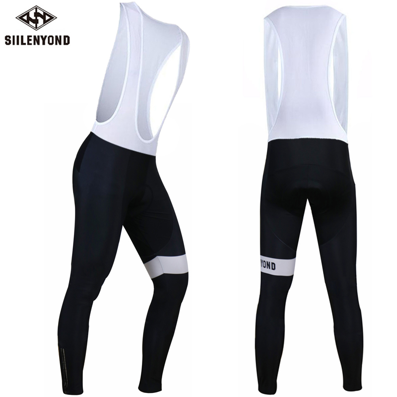 Siilenyond Men Autumn Cycling Long Pants 3D Gel Padded Long Road MTB Bicycle Bib Pants Cycling Riding Trousers Culotte Ciclismo