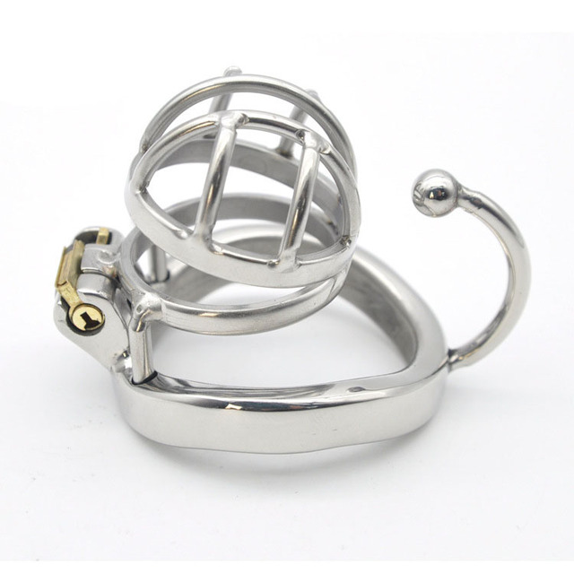 New Arrival Super Small Male Chastity Device Sex Toys For Men Cock Cage With Testicular Separated Hook Cock Peins Ring