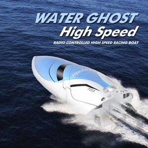 Image 3 - Ad Alta Velocità di 30Km/H Rc Barca 4CH 2.4 Ghz 4 Canali da Corsa da Corsa di Controllo Remoto Barca Barca da Pesca Giocattoli per I Bambini Hobby Regali