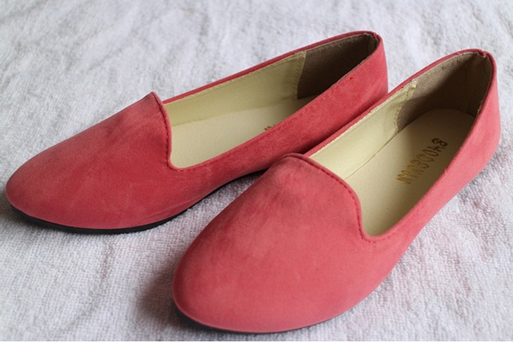 Hot selling large size 35-42 classic candy color ladies shoes fashion wild slip on flat shoes women casual summer shoes DT55 (5)