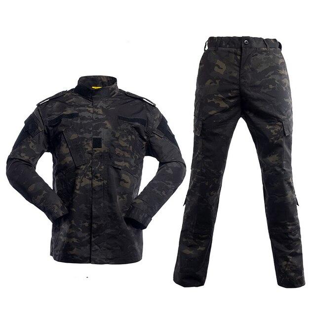5a063c7e8fd61 Estados Unidos ejército BDU alemán traje de camuflaje táctico combate  militar Airsoft uniforme chaqueta + Pantalones