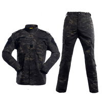 U.S Army BDU German Camouflage suit Tactical Military combat Airsoft uniform jacket + pants men medical clothing set