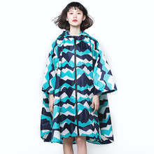 Yuding Fashion Woman Raincoat Female Hooded Outdoors Poncho Polyester Lady Capes Multifunctional Chubasqueros Impermeables Mujer