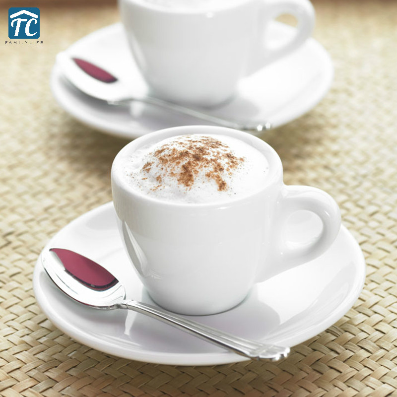 70ml 180ml 260ml Coffee Cup Saucer Thickening Italian Concentrating Espresso Cups Porcelain Small Thermal Mug Concentrated Drink