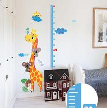 Kids hoogte giraffe sticker wallpaper