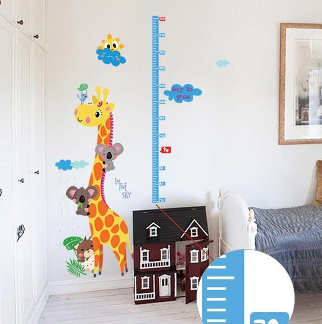 Kids Height Chart Wall Sticker home Decor