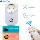 EastVita EU Plug WiFi Smart Remote Control Power Socket Outlet with Timer Function Control for Household Appliances r30