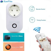 EU Plug WiFi Smart Remote Control Power Socket Outlet With Timer Function Control From Anywhere For
