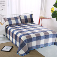 British Grid Grey Navy Blue Fashion Hotel Bed Sheet 19 Colors To Choose From Flat Sheet