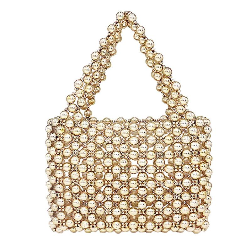 Womens Vintage Style Faux Pearl Handbag Tote Bags Evening Clutch Wedding Purse 21x8x15.5cm Artificial pearls+AcrylicWomens Vintage Style Faux Pearl Handbag Tote Bags Evening Clutch Wedding Purse 21x8x15.5cm Artificial pearls+Acrylic
