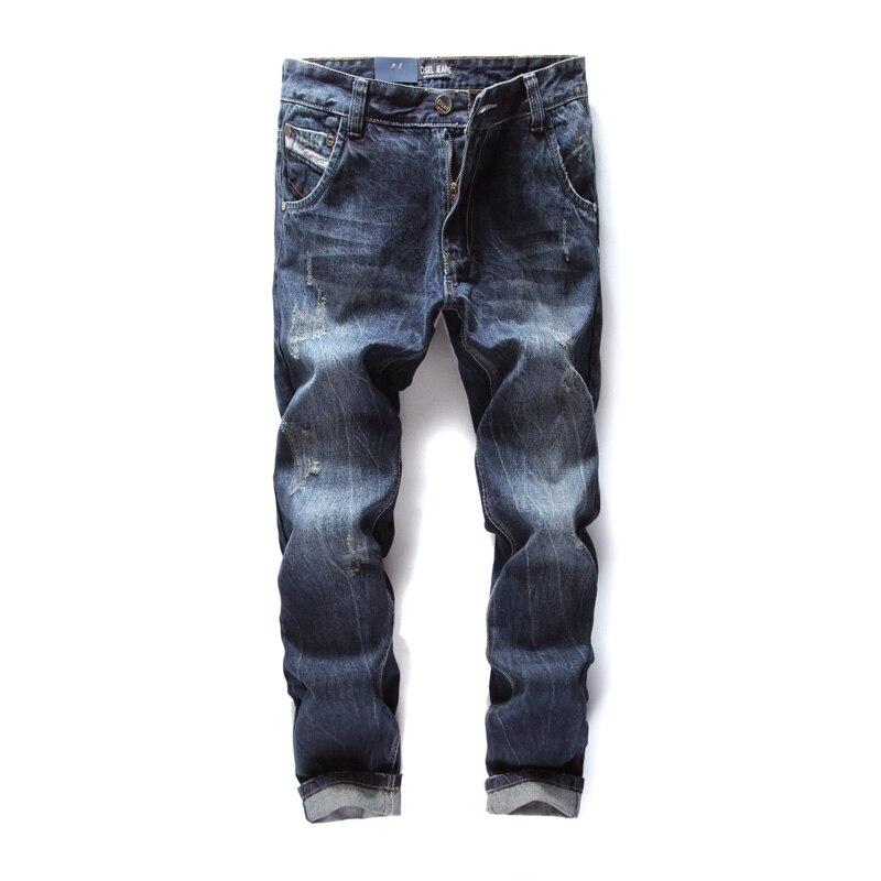 Italian Famous Designer Men Jeans,Zipper Fly Dark Blue Top Quality Full Length Jeans Men,100% Original Dsel Brand jeans!988-3 italian visual phrase book