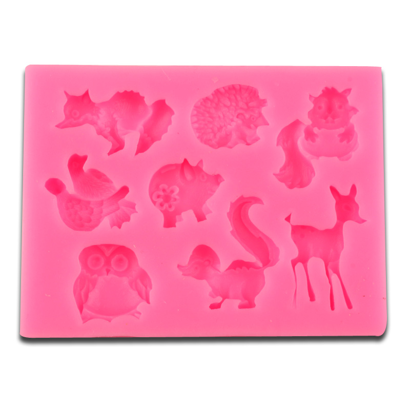 Chocolate Chunks Dunmore Candy Kitchen: Forest Animals Silicone Mold Soap Fondant Chocolate Moulds
