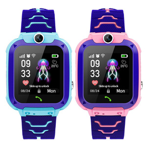 Anti Lost OLED Child GPS Tracker SOS Smart Monitoring Positioning Phone Kids GPS Baby Watch Compatible IOS & Android