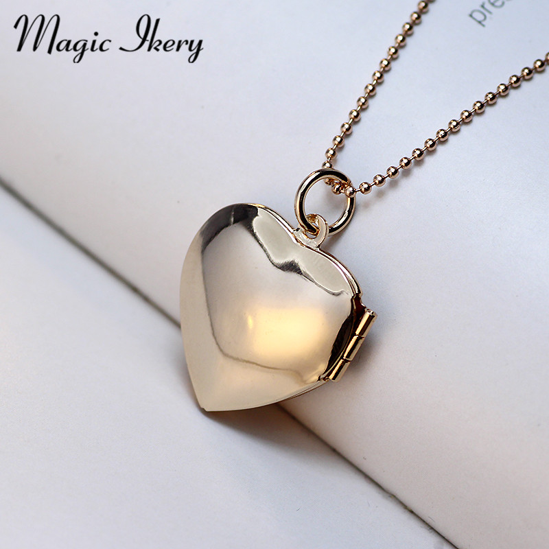 Magic Ikery Memori gambar terapung loket Kalung Rose Gold Warna Heart - Perhiasan fesyen - Foto 4
