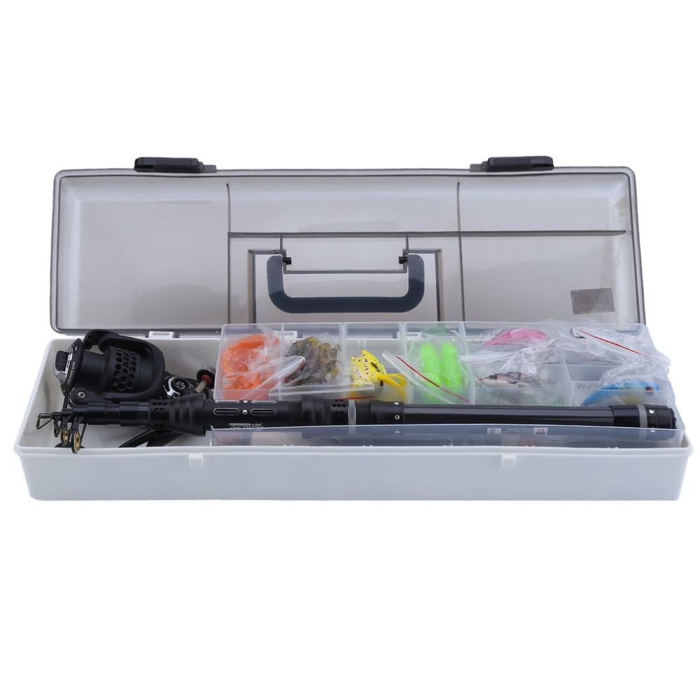 Telescopic Fishing Rod Kit With BKK2000 Fishing Reel Portable Fishing Tackle Kit Professional Fish Accessories free shipping free shipping 5 6 4 segments sections fly fishing rod full metal reel water proof rod bag lines box lure set kit