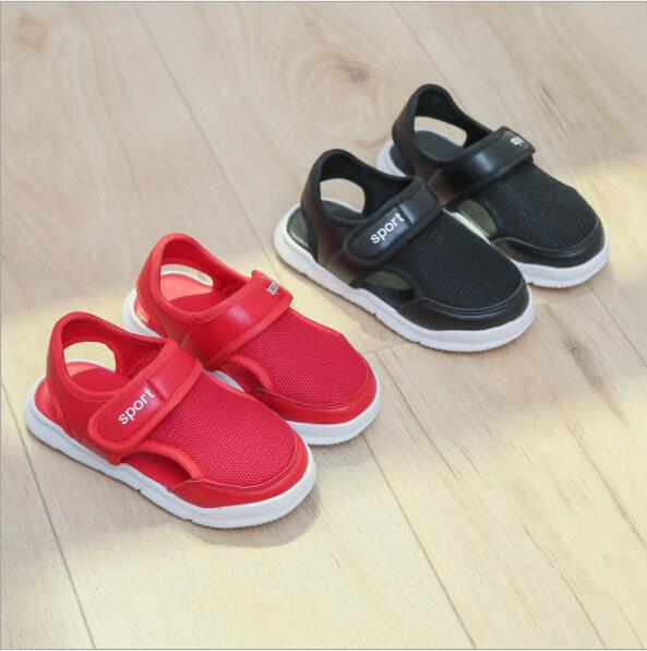 Boys Sandals 2018 Summer New Arrival Moisture Absorption Textile Closed Toe Little And Big Children Sandals Shoes
