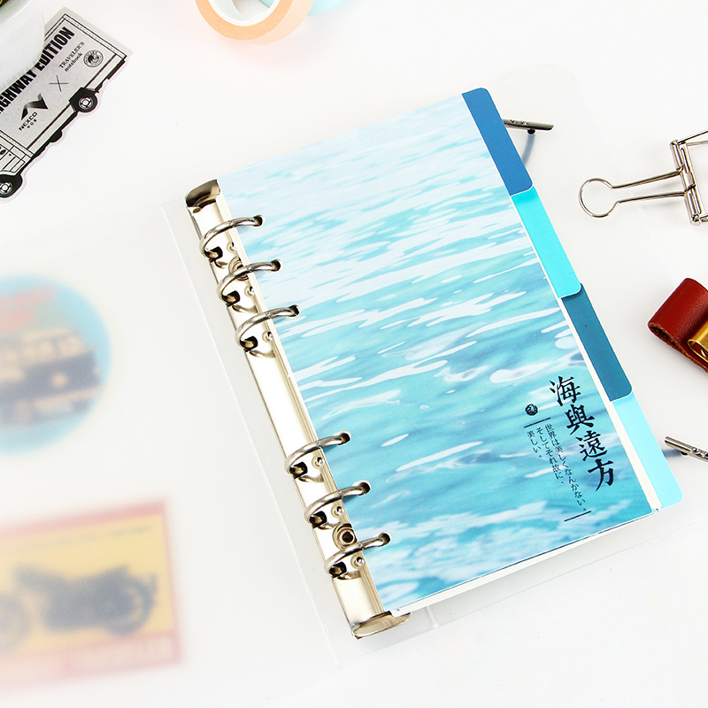 EZONE 4 Sheets A5/A6 6 Holes PP Colored Notebook's Index Page Matte Loose-leaf Book Category Page Office Planner Stationery Gift Multan