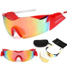 Gafas de Sol deportivas Gafas Gafas eyewear de Los Deportes 3 Unidades Lentes para Gafas MTB Tour de Francia 2017 Diseño de Marca de Gafas de Sol 2017