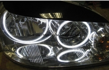 For Chevrolet Lacetti Optra Nubira 2002-2008 Ultra Bright Day Light DRL CCFL Angel Eyes Demon Eyes Kit Warm White Halo Ring