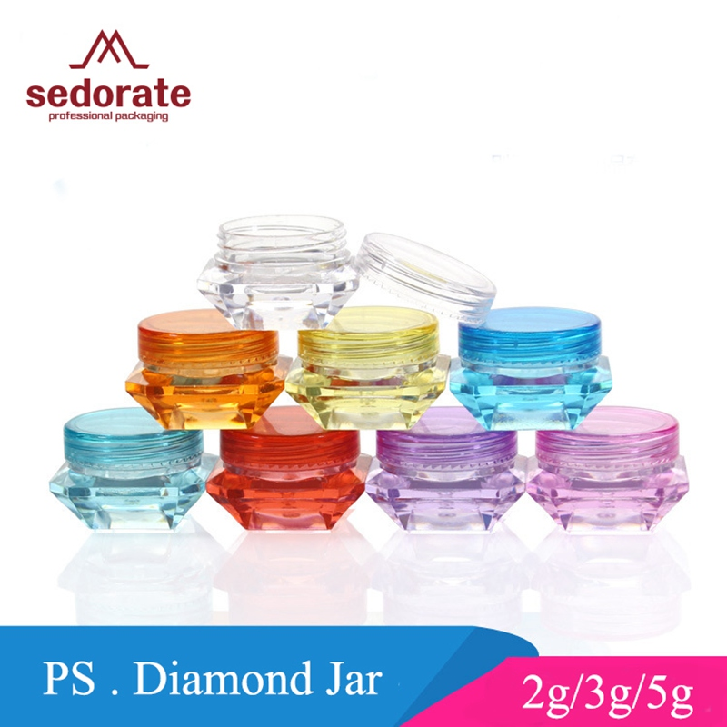 Clear Container Jars Crisis Portable Round Small Containers for Displaying Rhinestone for Storing Earrings Rings Beads Save Space Plastic Containers