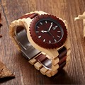 Luxus 2018 Neue Mode Uhren Männer MUYES Holz Strap Armbanduhr Casual Holz Band Quarz Armbanduhren Geschenke relogio masculino