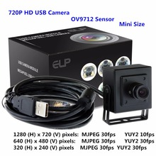 PC camera OV9712 CMOS sensor 1 megapixel 720P HD UVC plug and play mini USB PC webcam for windows. linux or android tablet