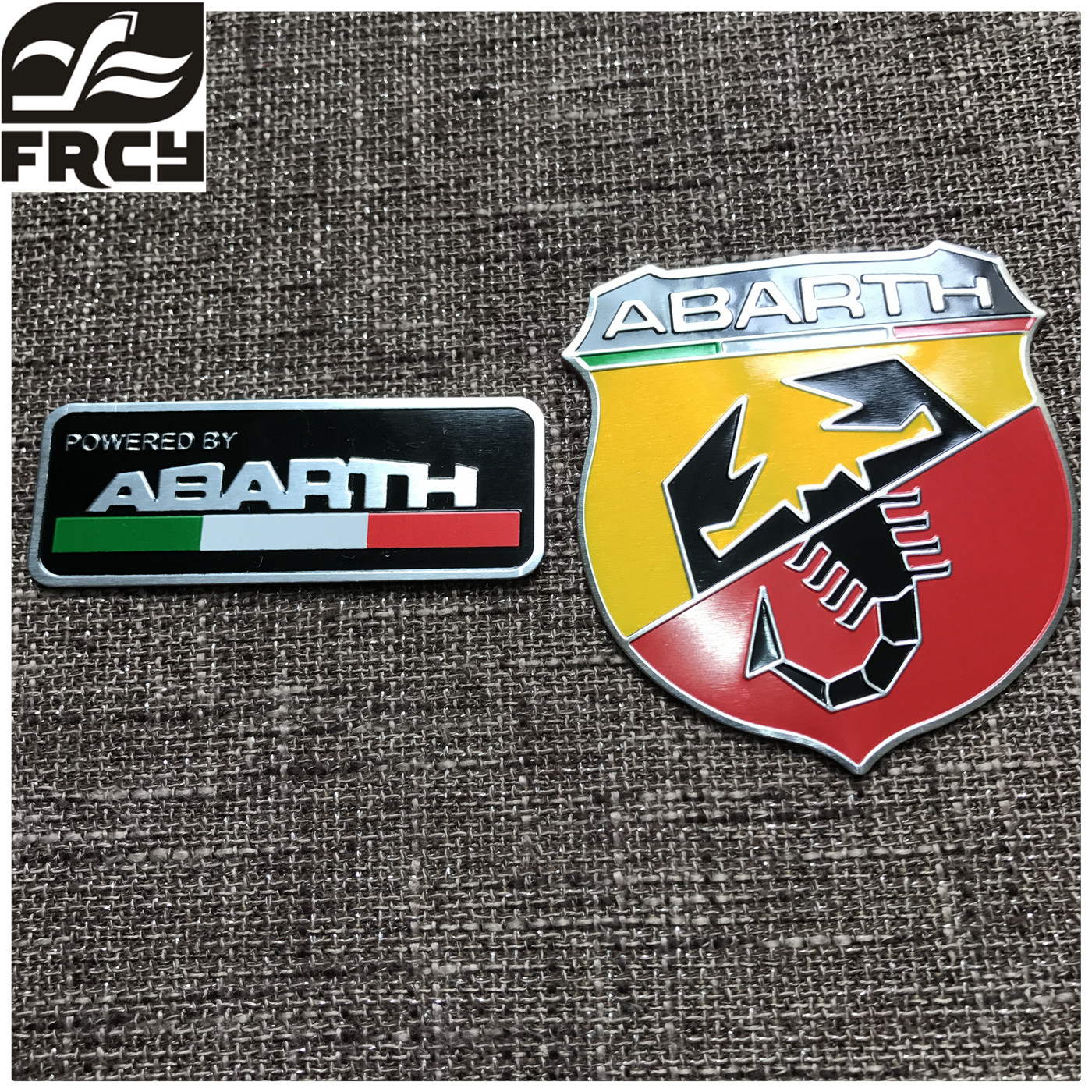 2017 3d Car Abarth Metal Adhesive Badge Emblem Logo Decal Sticker Scorpion For All Fiat Punto 124/125/125/500 Styling customized badge holder lanyard company logo print personalized lanyard printing badge accessories