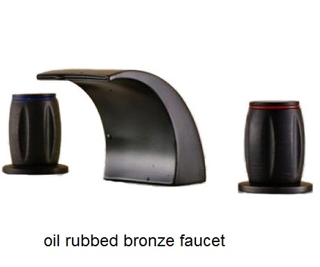 ФОТО Oil Rubbed Bronze Dual Handles Basin Faucet Vessel Sink Tap Mixer Faucet