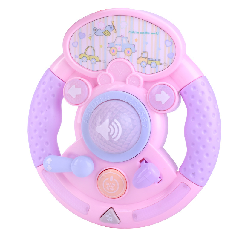 Kids Simulated Steering Wheel Music Learning Toys For Children Electric Sound Light Intelligence Educational Toy Driving Model