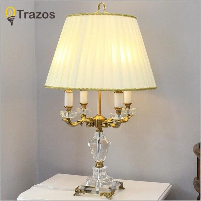 Camera da letto Lampada Da Tavolo In Tessuto Bianco Paralume Living ...