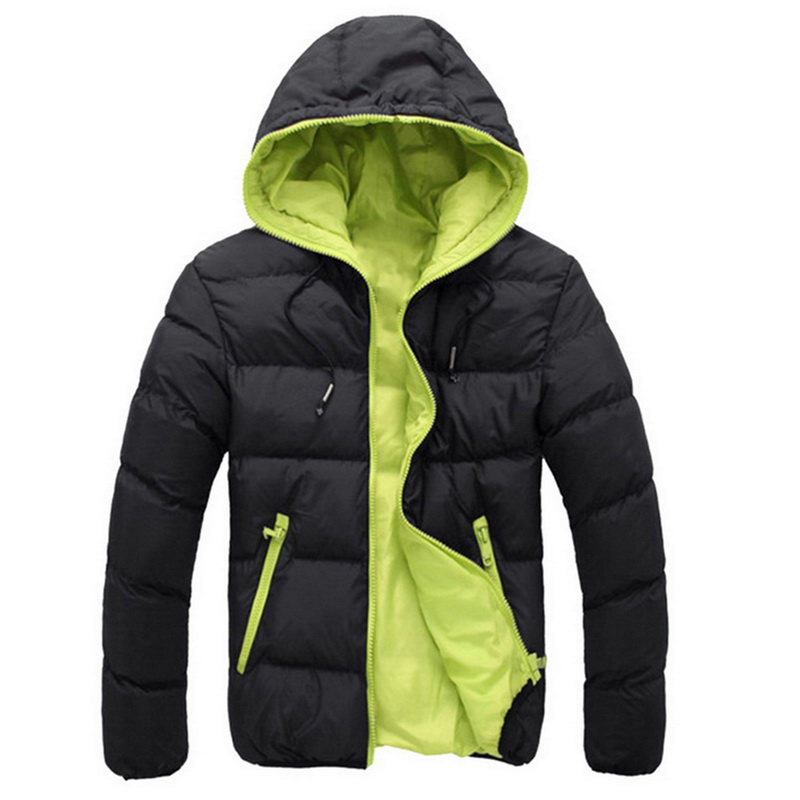 MJARTORIA Men's Sport Casual Hooded Puffer Jacket Outdoor Hiking Camping Sports Cotton Jackets Warm for Winter and Autumn(China)