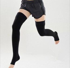 Image 5 - Medical Compression Socks Varicose Veins Socks 30 40mmHg Elastic Nursing Socks Third Grade Compression Over Knee Socks