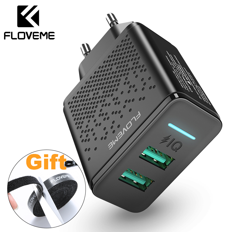 FLOVEME USB Charger For iPhone X XR XS MAX Mobile Phone Wall Charger Charging Ad