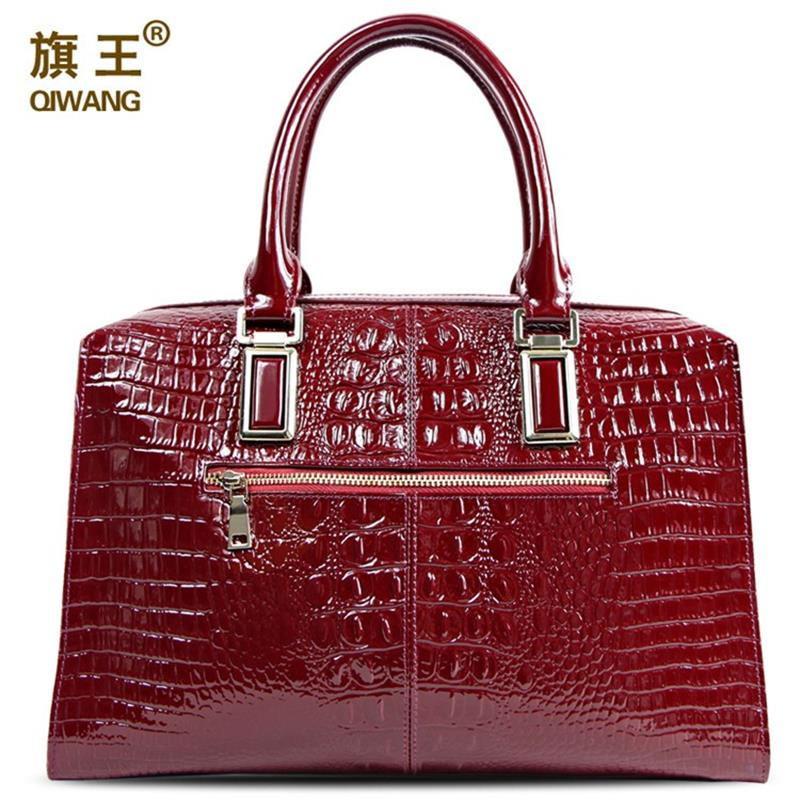 Cher Sac Vin Robuste Magnifique Femmes Substantielle Red Vache Main Cuir Crocodile À De Solide Peau En Luxueux XSpt1q