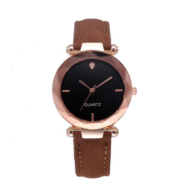 Fashion Women Leather Casual Watch Luxury Analog Quartz Crystal Wristwatch dressrelojes para mujer Multi-color  watches