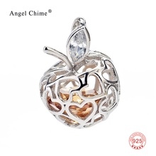 Cute Heart Apple Pendant 925 Sterling Silver Jewelry Findings For DIY Jewelry Making Necklaces Pendants For Women
